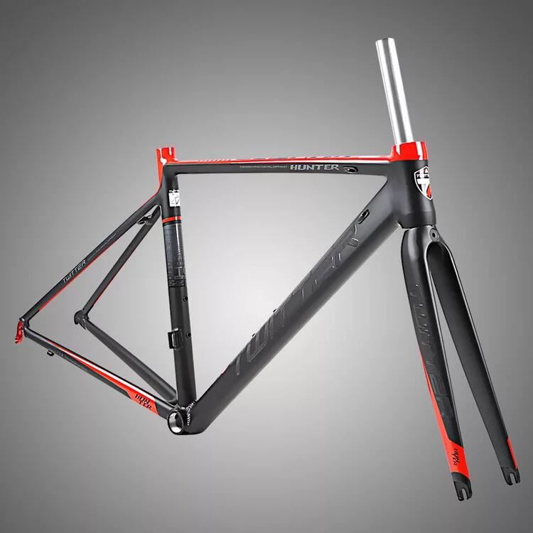 HUNTER  AL road frame+carbon fork